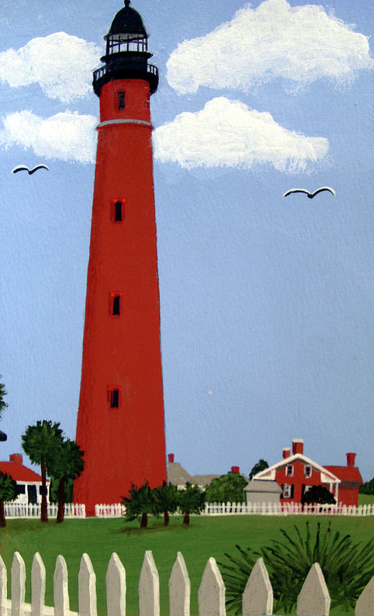 Ponce Inlet Lighthouse Painting by Frederic Kohli