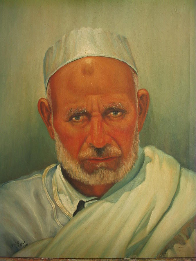 Poritrait Painting by Mahmoud Alhsi