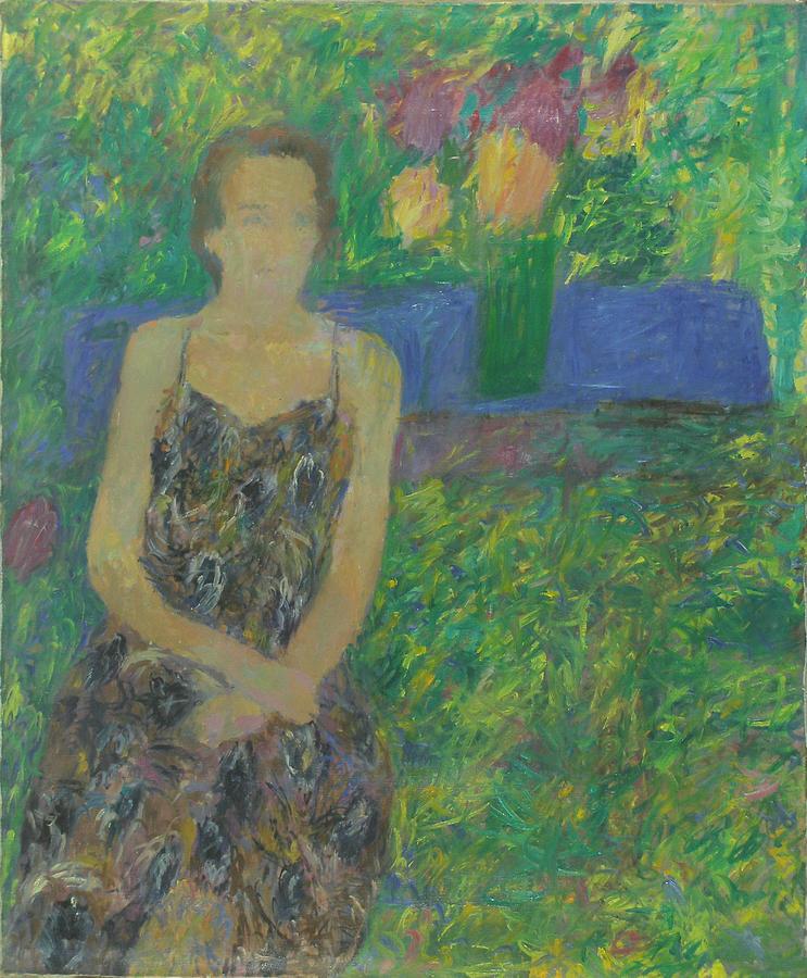 Park Painting - Portrait  by Robert Nizamov