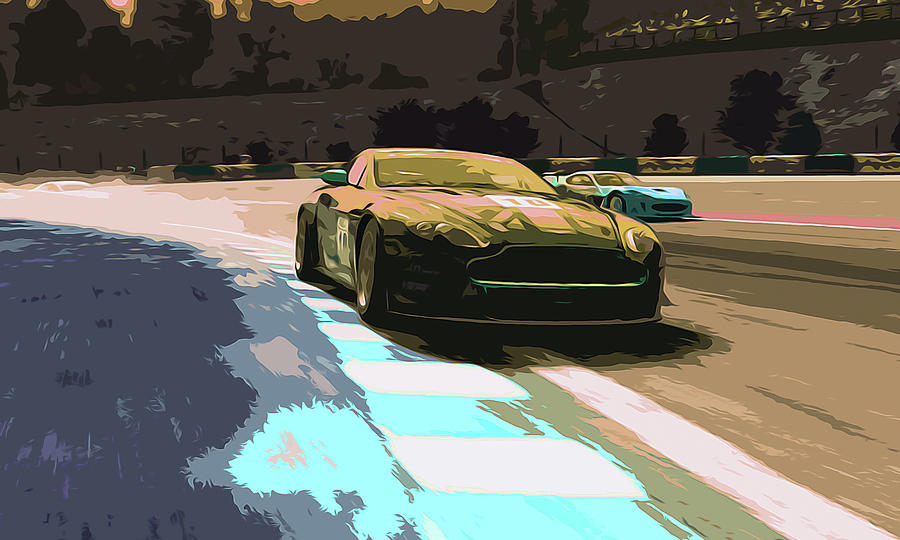 Aston Painting - Power And Motors by Andrea Mazzocchetti