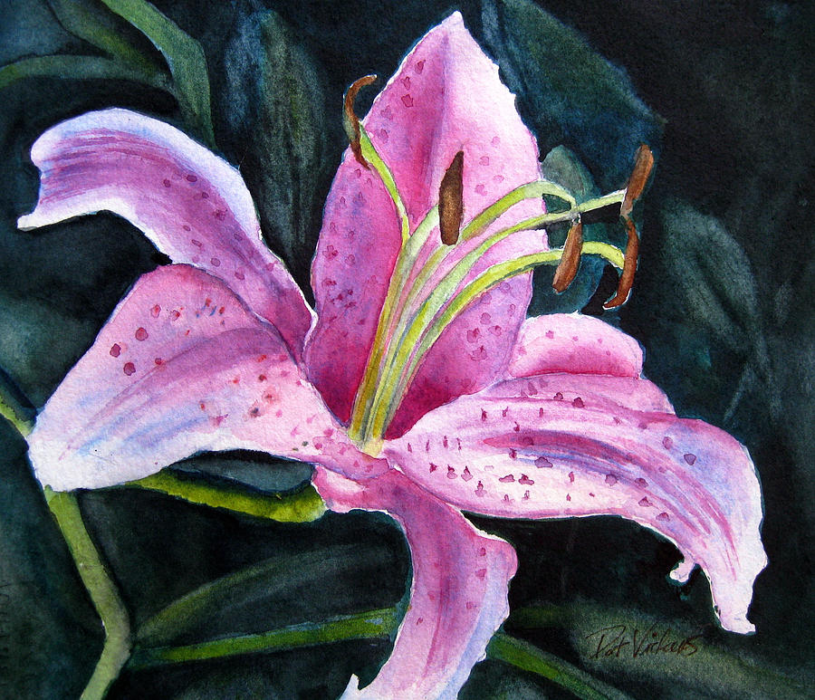 Floral Painting - Pretty In Pink by Pat Vickers