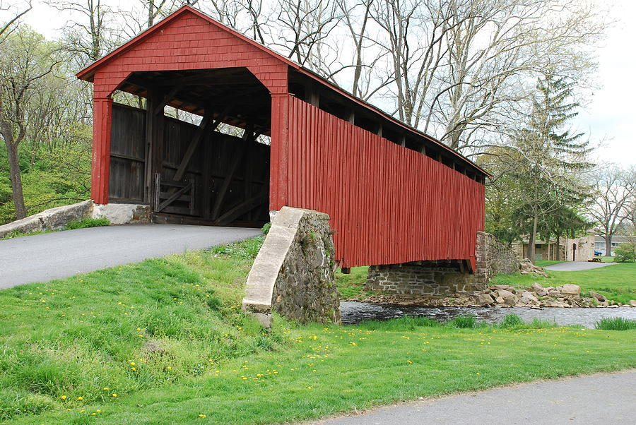 Covered Bridge Photograph - Red Covered Bridge by Brian Williams
