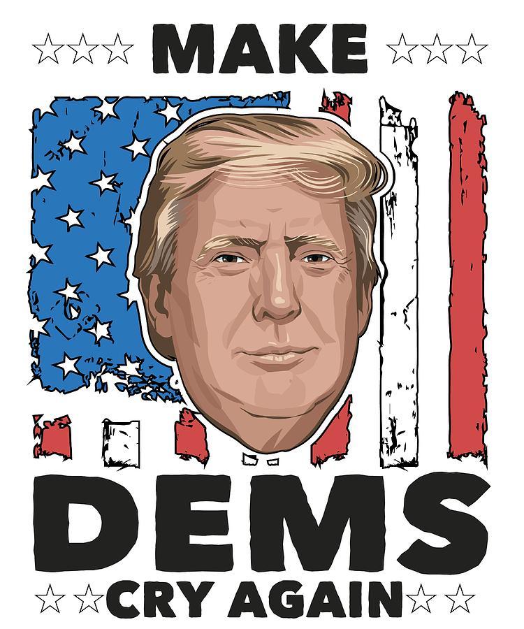 Trump Digital Art - Reelect Trump For President Keep America Great Light by Nikita Goel