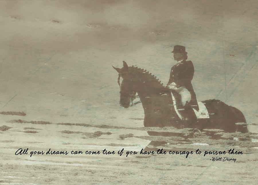 Horse Photograph - Reflection Quote by JAMART Photography