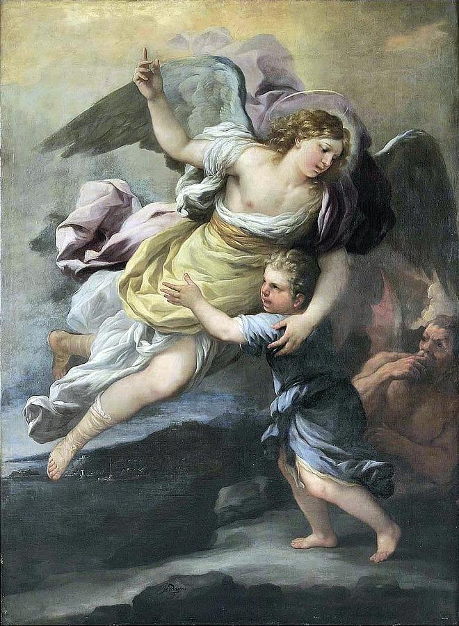 Kids Painting - Rendition Of A Guardian Angel by MotionAge Designs