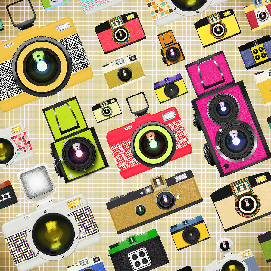 Analog Photograph - Retro Camera Pattern by Setsiri Silapasuwanchai