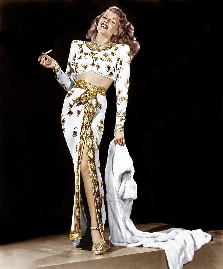 Cigarette Photograph - Rita Hayworth, 1940s by Everett