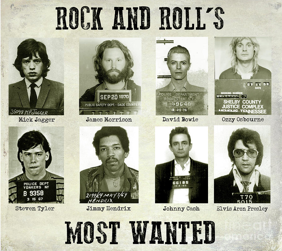 Mick Jagger Photograph - Rock and Rolls Most Wanted by Jon Neidert