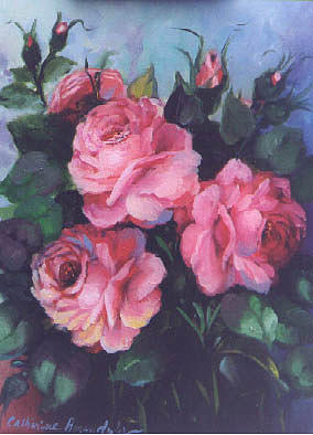 Florals Painting - 3 Roses by Catherine Amendola