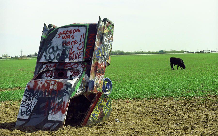 66 Photograph - Route 66 - Cadillac Ranch by Frank Romeo