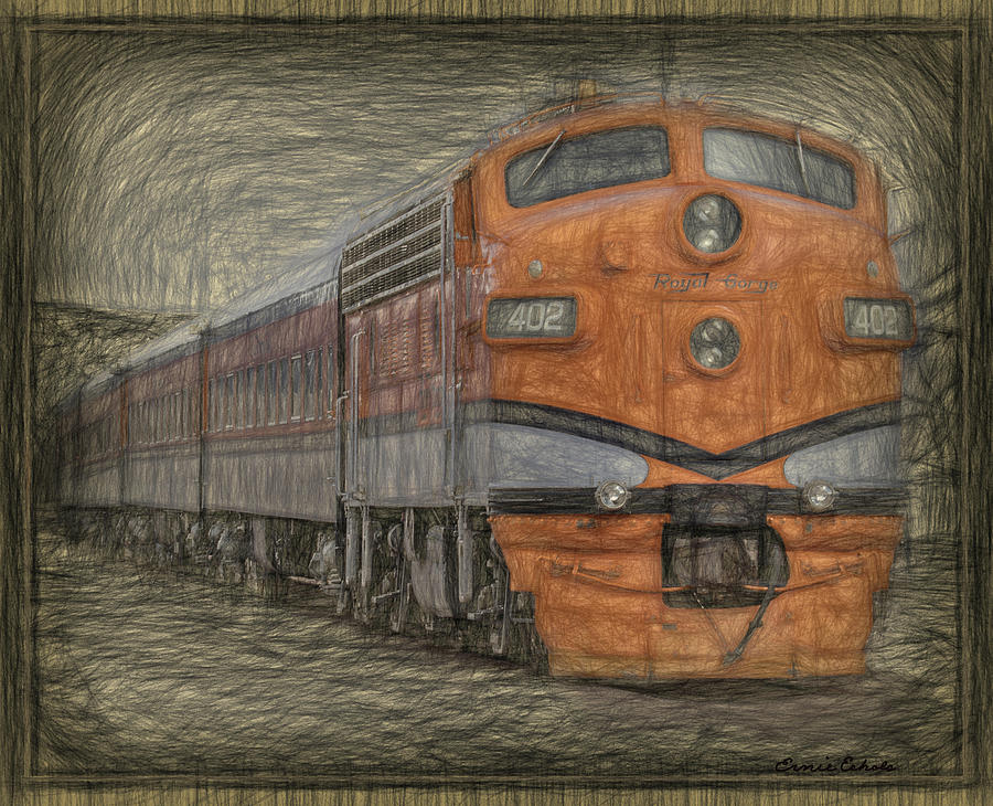 Train Digital Art - Royal Gorge 402  by Ernie Echols