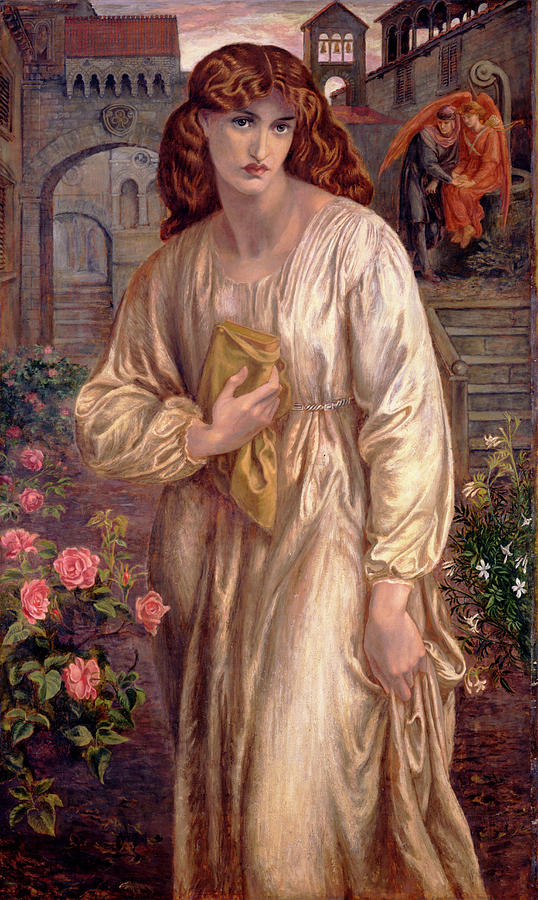 Salutation Of Beatrice Painting - Salutation Of Beatrice by Dante Gabriel Rossetti