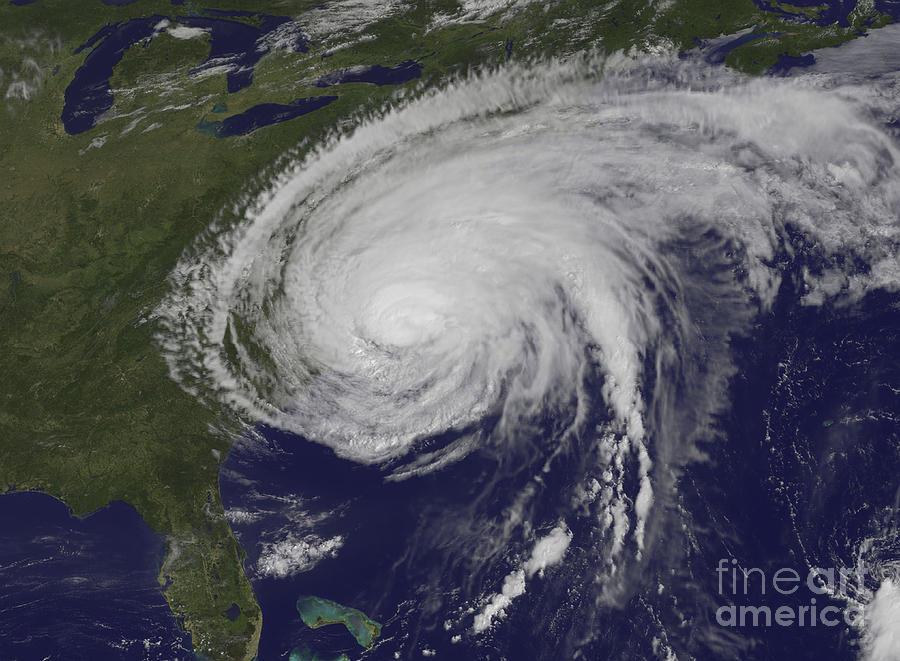 Satellite View Of Hurricane Irene Photograph