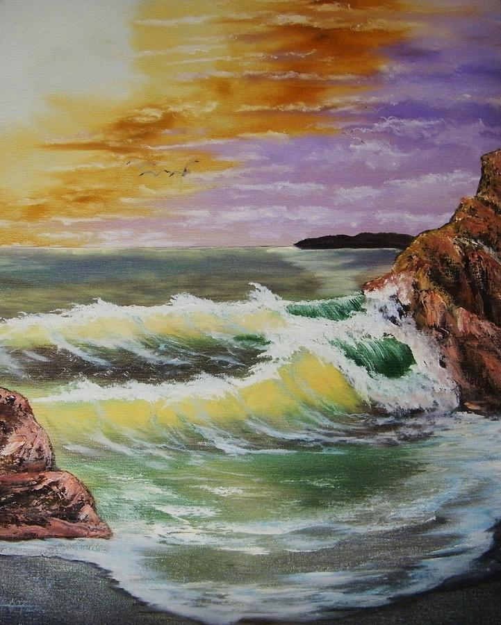 Seascape Painting by Larry Doyle