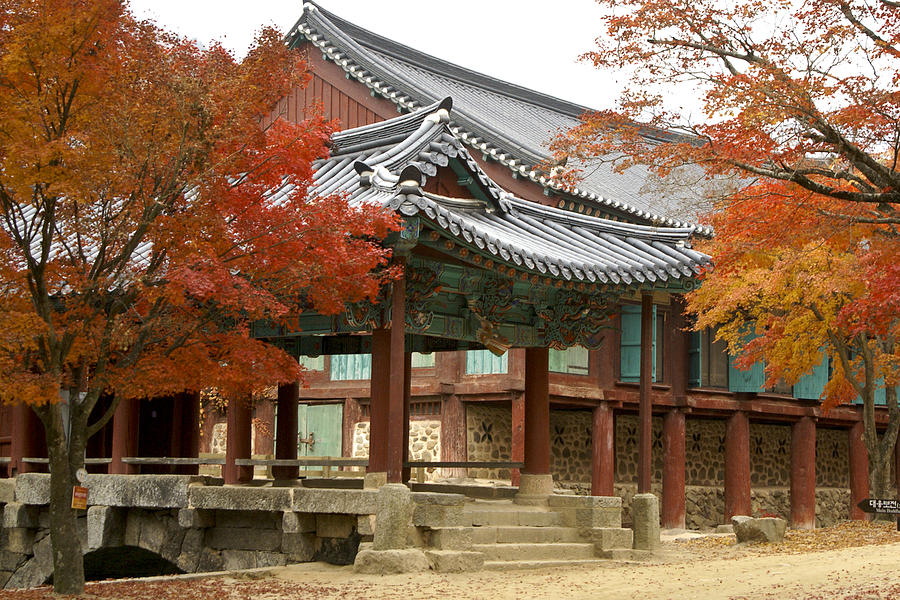 Korea Photograph - Seonamsa In Autumn by Michele Burgess