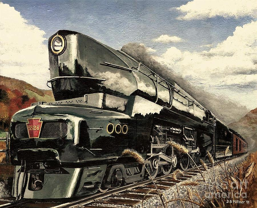 Pennsylvania Railroad Painting - Showin Off by David Mittner