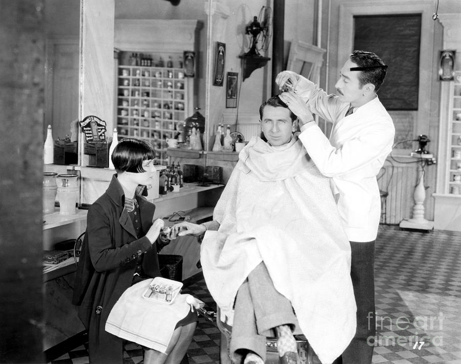 -barbers & Beatuy Salons- Photograph - Silent Still: Barber Shop by Granger