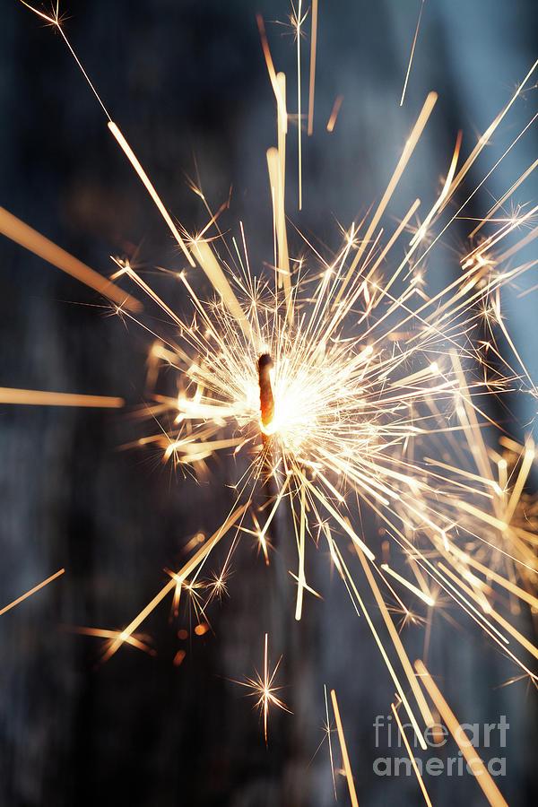 Sparkler Photograph - Sparkler by Kati Finell