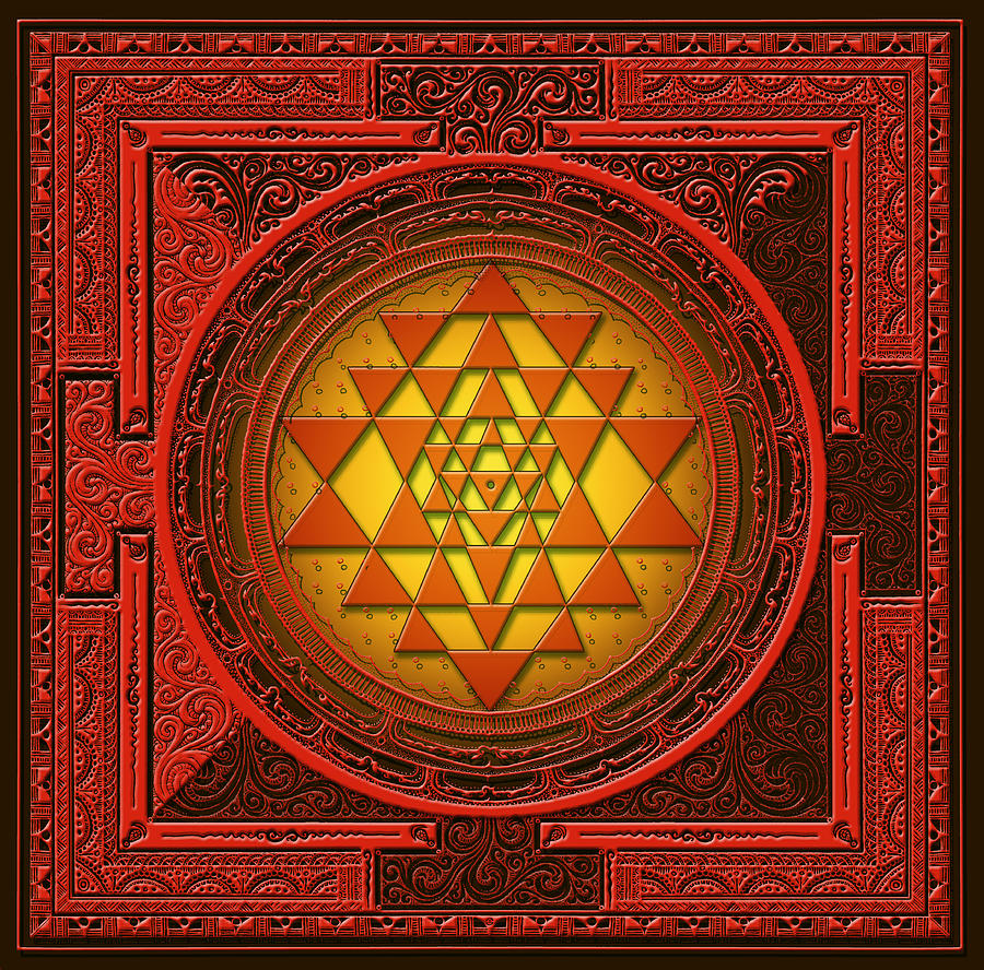 Mandala Mixed Media - Sri Yantra by Lila Shravani