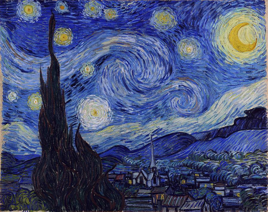 Van Gogh Painting - Starry Night by Van Gogh