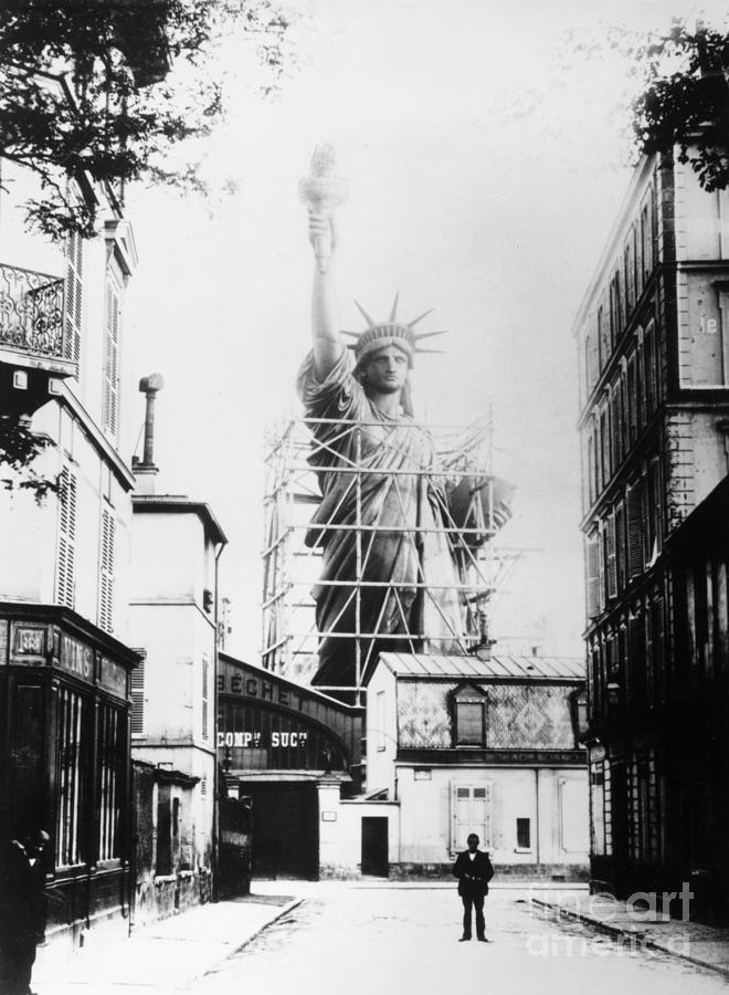 1884 Photograph - Statue Of Liberty, Paris by Granger