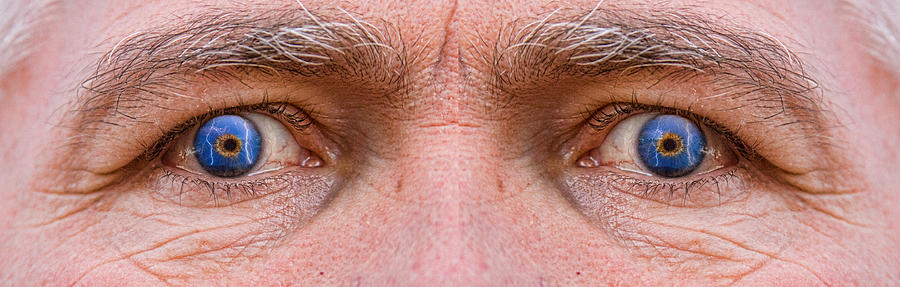 Eyes Photograph - Stormy Angry Eyes by James BO  Insogna