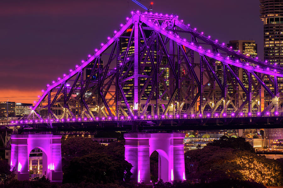 Australia Photograph - Story Bridge In Brisbane, Queensland by Rob D