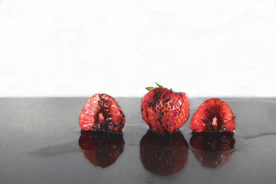 3 Straberries Photograph