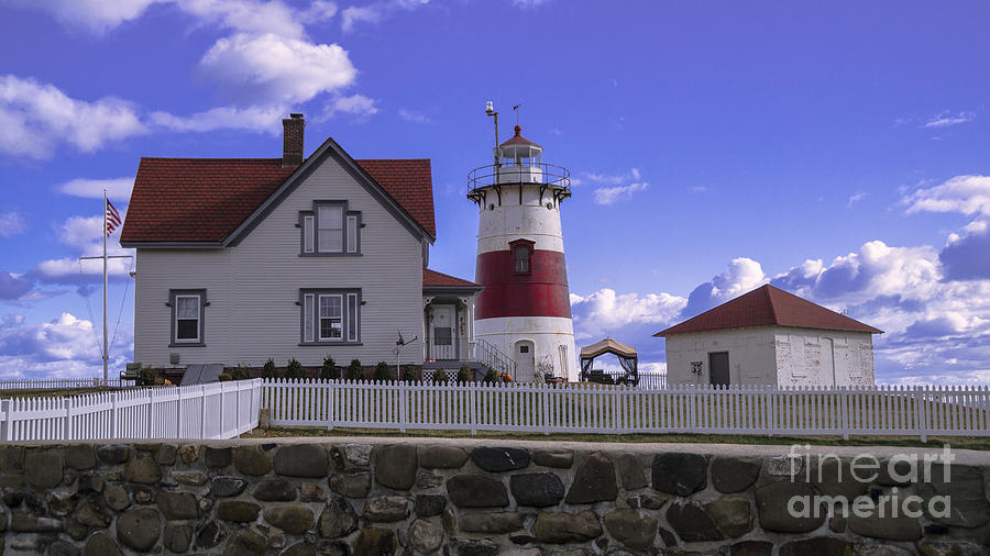 Stratford Point Light. by New England Photography