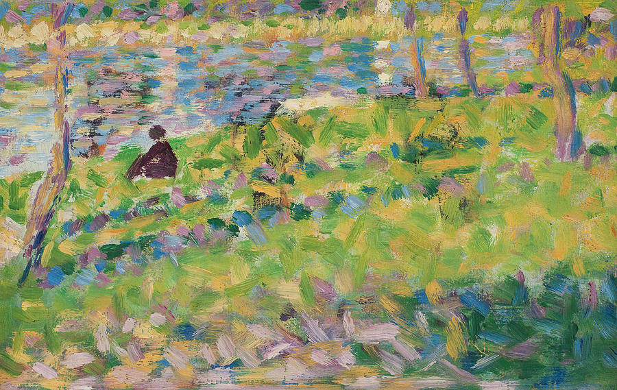 Landscape Painting - Study For Sunday Afternoon On The Island Of La Grande Jatte by Georges Pierre Seurat