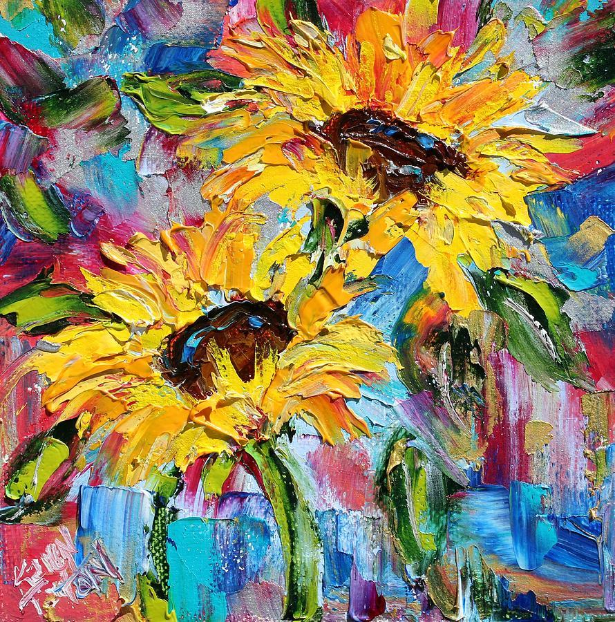 Sunflower Joy Painting by Karen Tarlton