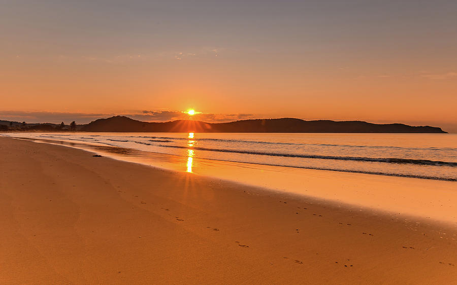 Umina Photograph - Sunrise Seascape At The Beach by Merrillie Redden