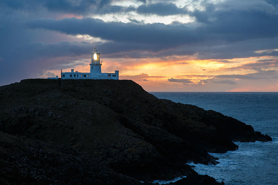 Lighthouse Photograph - Sunset At Strumble Head Lighthouse by Ian Middleton