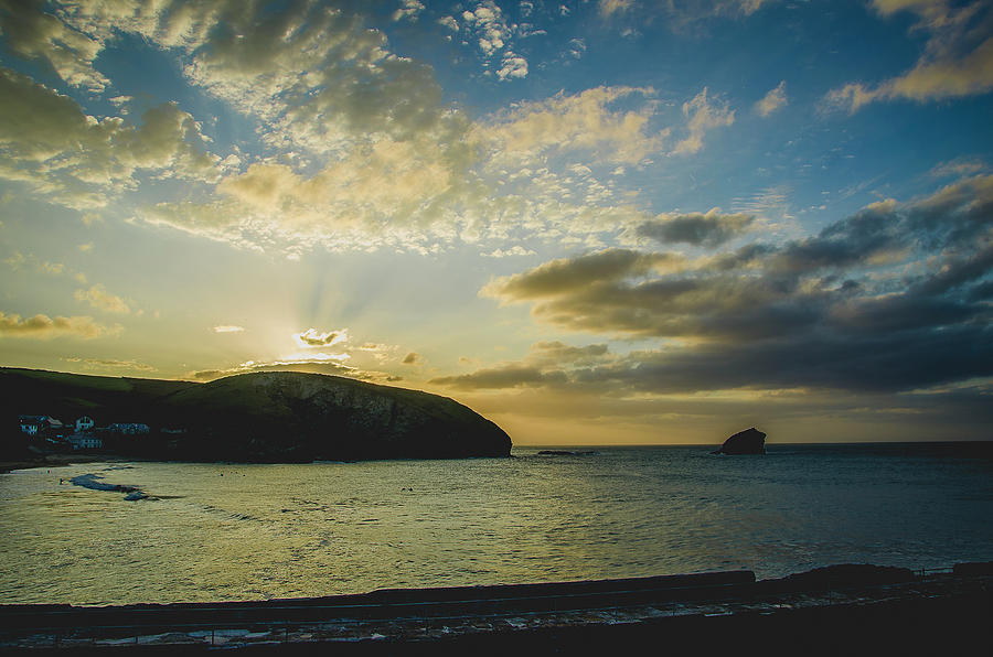 Sunset over Portreath by Edyta K Photography
