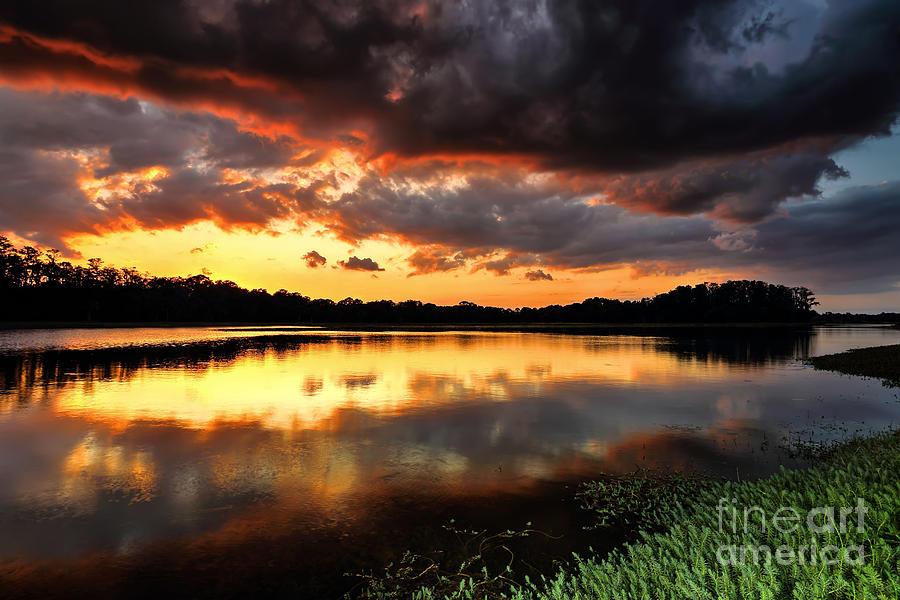 Sunset Photograph - Sunset Reflections by Rick Mann