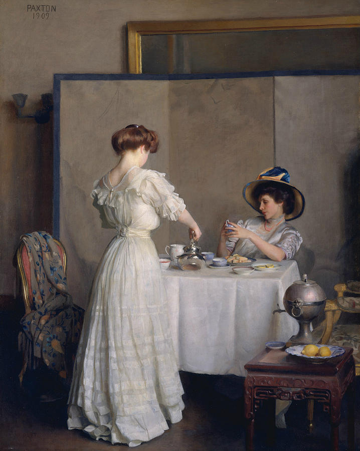 William Mcgregor Paxton Painting - Tea Leaves by William McGregor Paxton