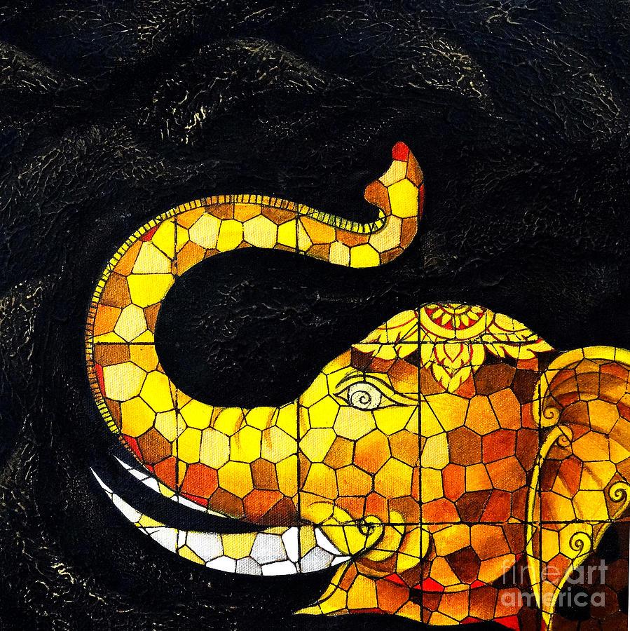 Thai Elephants. Painting