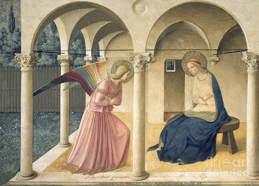 Angel Painting - The Annunciation by Fra Angelico