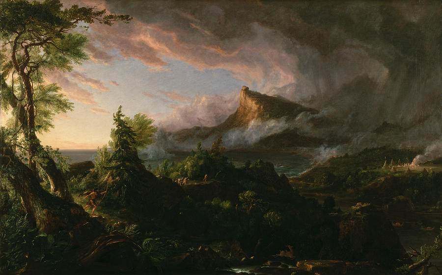 The Course Of Empire The Savage State by Thomas Cole