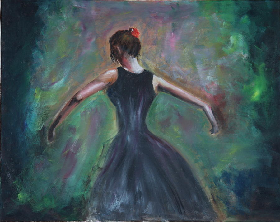 Dance Painting - The Dancer by Taly Bar
