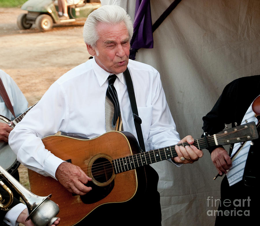 The Del Mccoury Band And The Preservation Hall Jazz Band Backstage At  Bonnaroo by David Oppenheimer