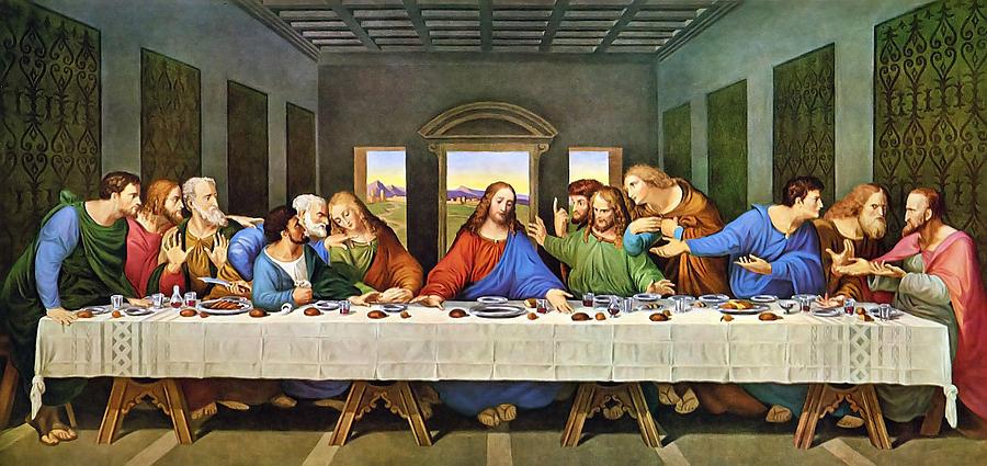 The Last Supper Painting - The Last Supper by Leonardo Da Vinci