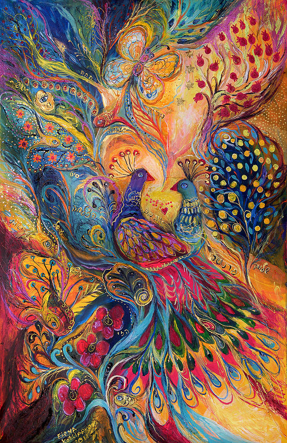 Original Painting - The Magic Garden by Elena Kotliarker