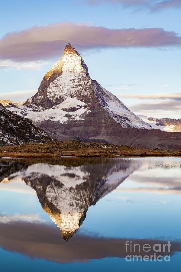 Europe Photograph - The Matterhorn Mountain In Switzerland by Werner Dieterich