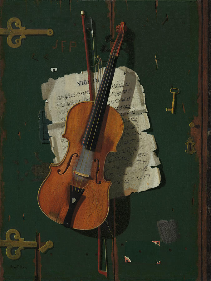 The Old Violin Painting