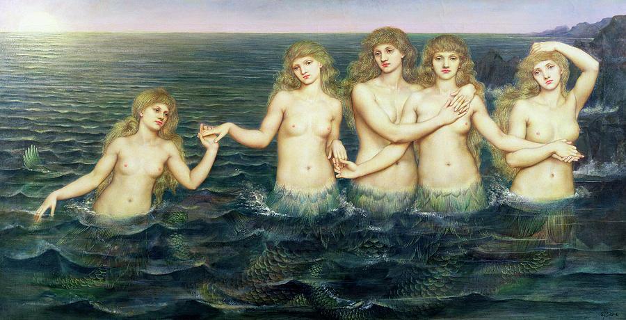 Evelyn De Morgan Painting - The Sea Maidens 3 by Evelyn De Morgan