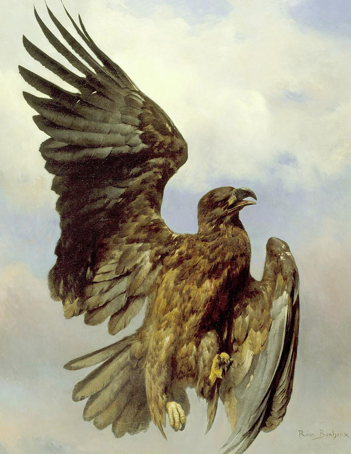 Eagle Painting - The Wounded Eagle by Rosa Bonheur
