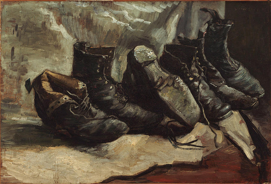 Shoes Painting by Vincent van Gogh