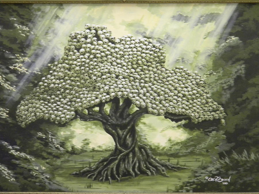 Trees Painting - Tree Of Skulls by Eric Barich