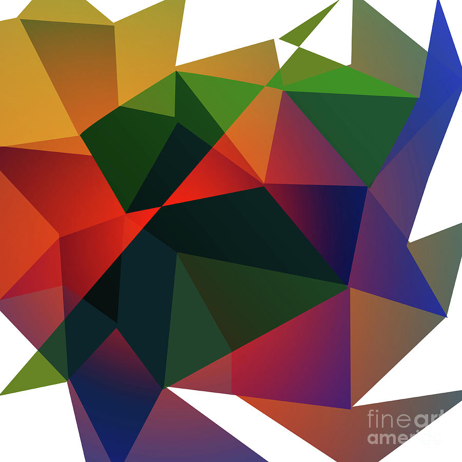 Background Digital Art - Triangle Abstract Color by Atiketta Sangasaeng